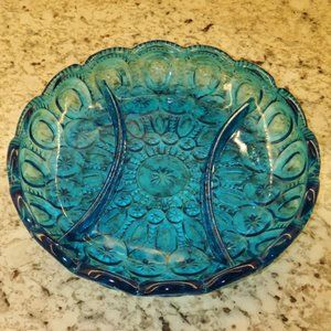 Vintage LE Smith Moon and Star divided relish dish